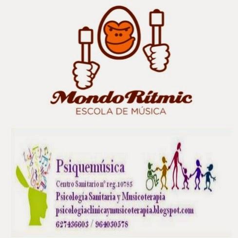 Mondo Rítmic y Psiquemúsica, unidos para crear el ÁREA DE MUSICOTERAPIA