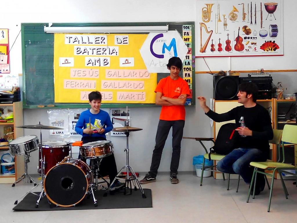 taller batería mondo rítmic colegio ceip carmen marti artana castellón