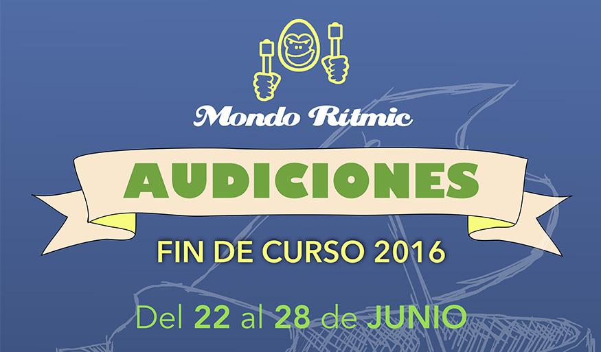 Audiciones y talleres de fin de curso 2016