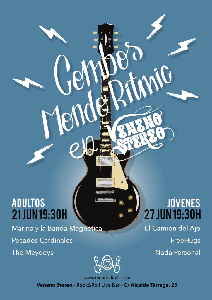 Cartel Concierto Combos Mondo Rítmic Escola de Música en Sala Veneno Stereo
